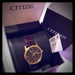 Nwt Citizen leather watch